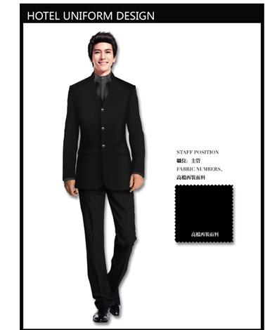 法国古典欧式风格酒店制服设计效果图 (5)